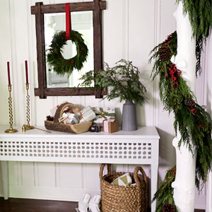 how to make a pretty christmas entry