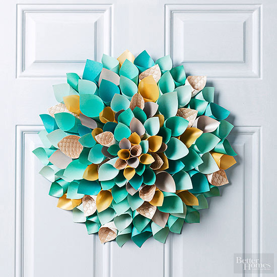 Paper Easter Wreath