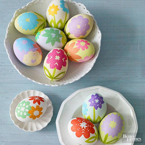 Paper Blossom Easter Eggs