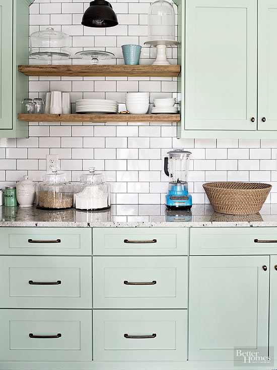 Popular kitchen cabinet colors for Kitchen cabinet trends 2018 combined with beach inspired wall art