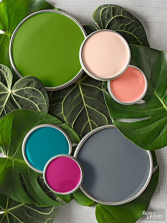 2015 color palette of the year for Tropical interior paint colors