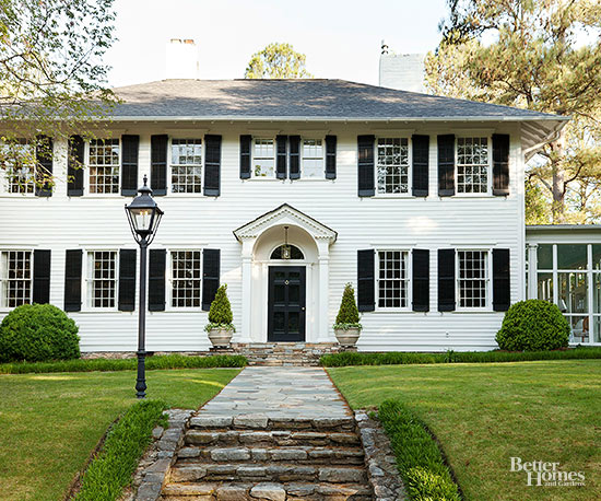 Colonial style home ideas for Modern colonial home exterior
