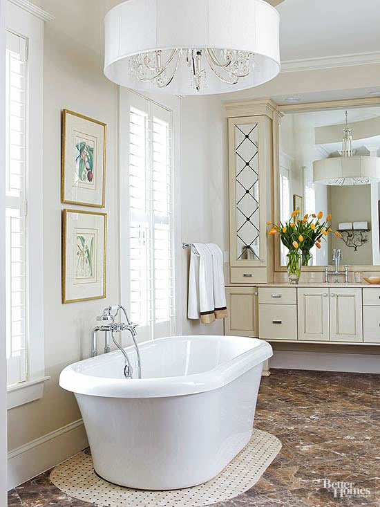 Elegant bathroom lighting shaded in style aloadofball