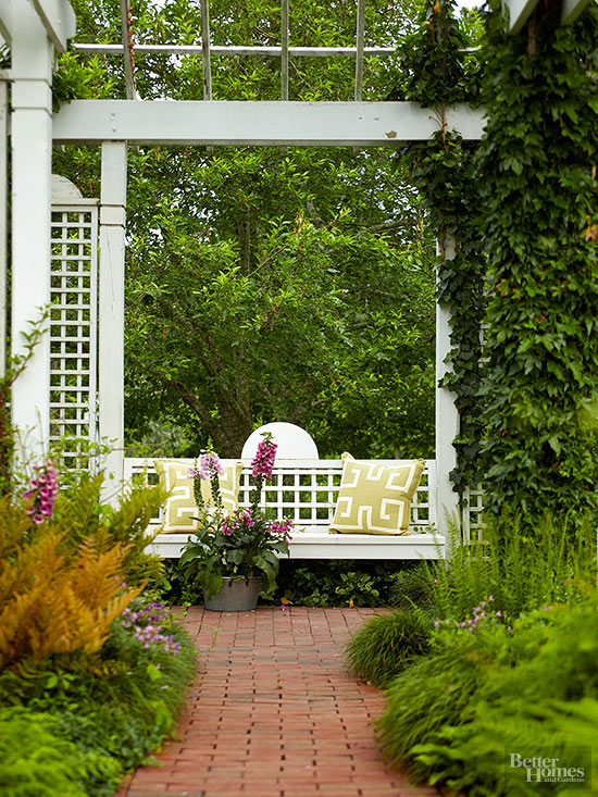 Awesome Garden Bench Ideas Part - 8: Pergola And Trellis Bench