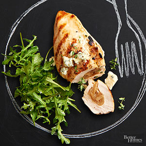 Caramelized Onion And Apple Stuffed Chicken Breasts