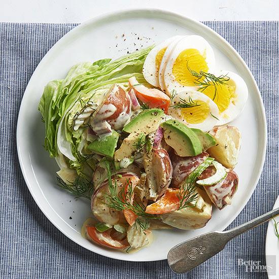 New Potato Avocado And Egg Salad