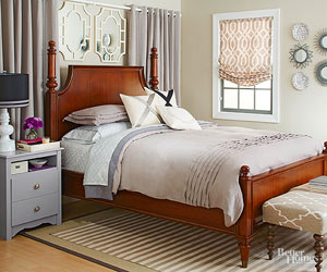 Add Color To Your Bedroom In Three Easy Steps
