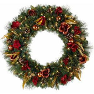 wreaths for any style home - 1950s Outdoor Christmas Decorations