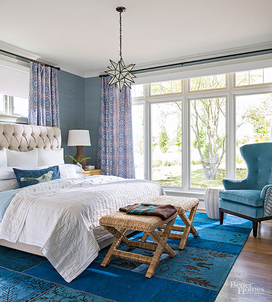Neutral Color Schemes For Bedrooms: Blue Bedroom Decorating Ideas