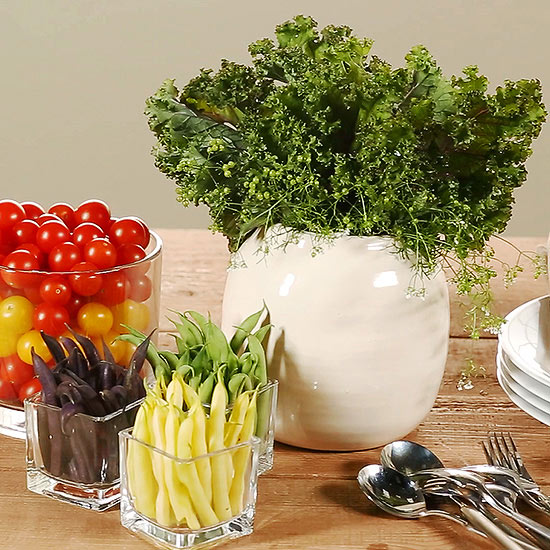 Three Centerpieces From Fresh Vegetables
