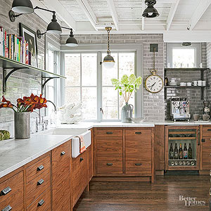 Charmant Industrial Meets Rustic In This Kitchen