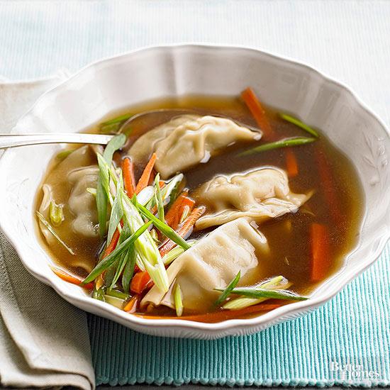 Pot Sticker Dumpling Soup