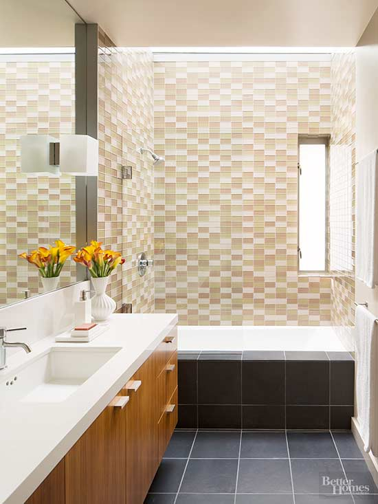 Bathroom color inspiration ideas Different design and colors of tiles