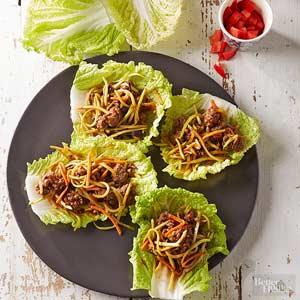 Korean Beef Cabbage Wraps