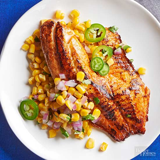 30 minute healthy dinner recipes chile lime tilapia with corn saute forumfinder Gallery