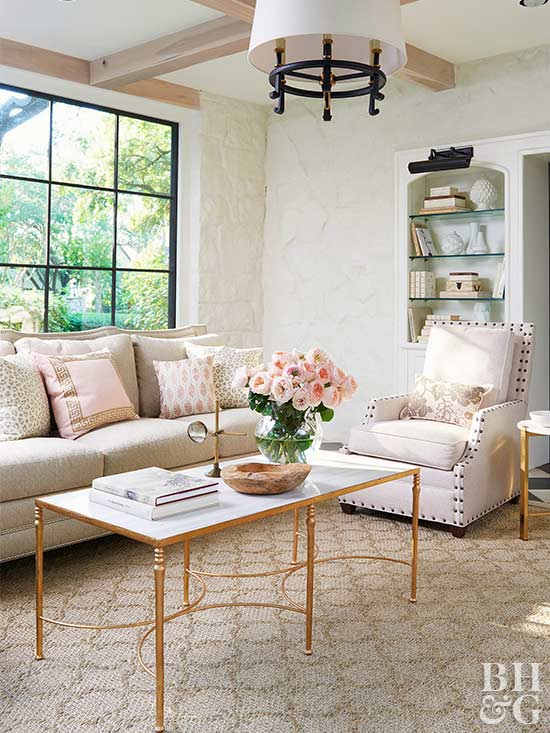 Bhg Living Room Design Ideas. Pink in Bloom Decorating