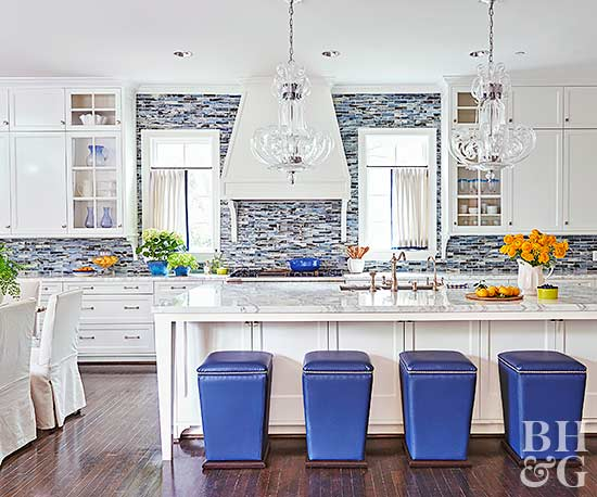 blue backsplash kitchen 17 kitchens with stealing backsplashes 10754