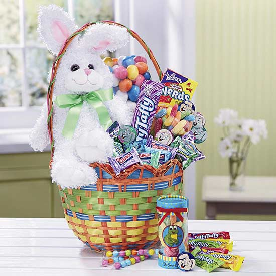 Easter baskets even adults will love starting our list off with a timeless basket loved by many includes lots of tasty treats and creamy chocolates and even a stuffed easter bunny negle Choice Image