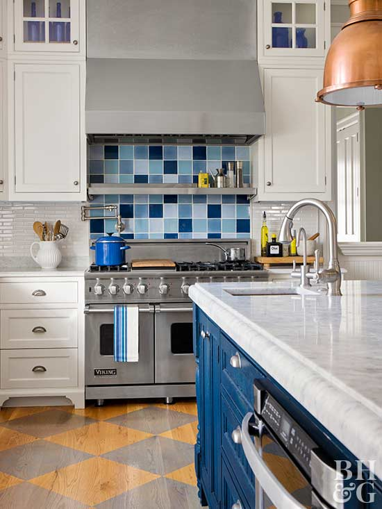 Attractive Painted Kitchen Floor Ideas Part - 3: Dressy Diamonds