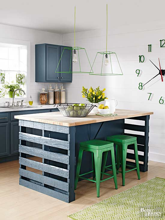 Kitchen Islands Ideas Part - 24: Wood Pallet Island