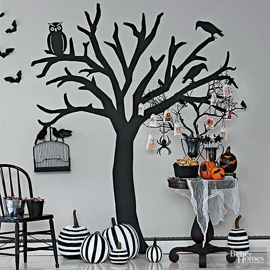 Haunted Paper Tree Mural