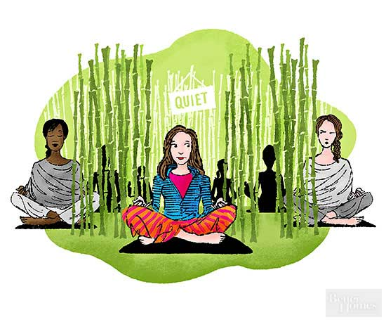 Our Health Nut Attends a Silent Retreat
