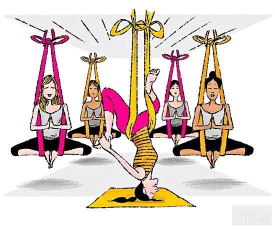 Our Health Nut Tries Aerial Yoga