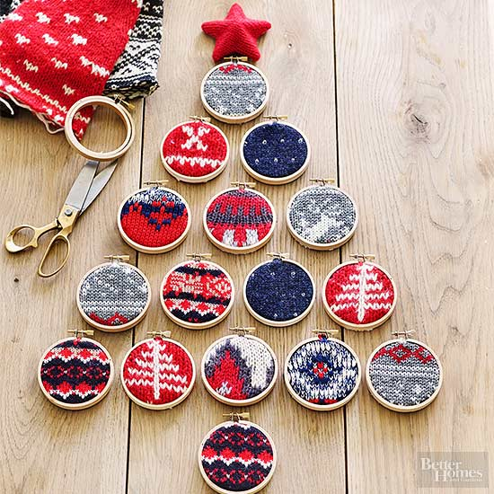 Christmas ornament crafts for Homemade xmas decorations