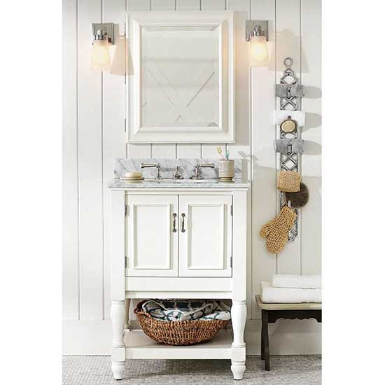 Small Bathroom Vanities for a Pretty Powder Room