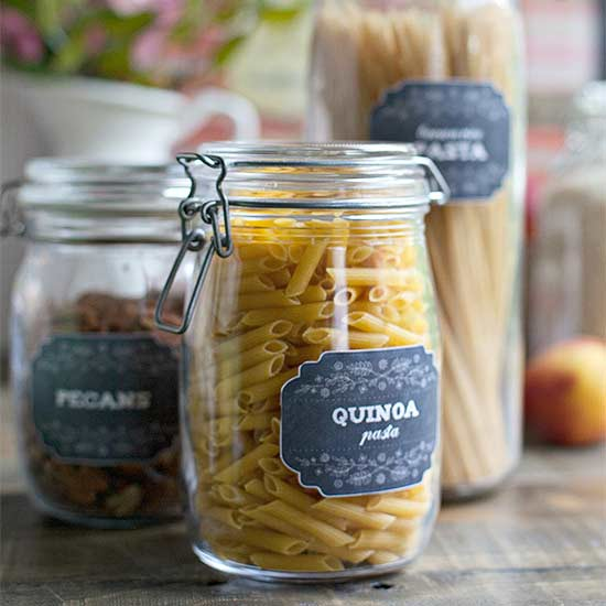 Pretty Printable Labels to Organize Your Pantry