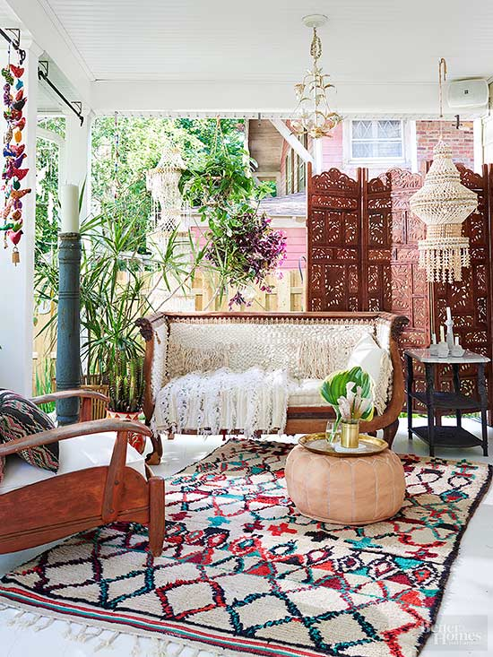 Eclectic global vintage style for Modern home decor market