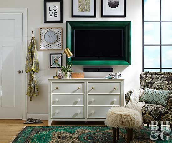 Living Room Furniture Packages With Tv. Doing something as simple adding a frame to your flat screen TV can  totally transform living room Try chunky painted around 9 Easy DIYs that Will Immediately Upgrade Your Living Room