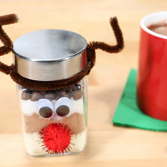 Hot Cocoa in a Jar Food Gift