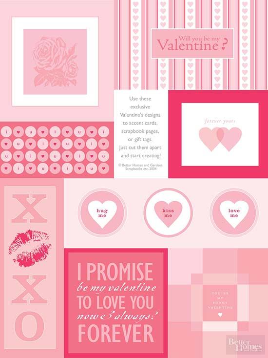 Exclusive Valentine Cutouts