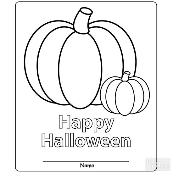 Halloween Coloring Place Mats