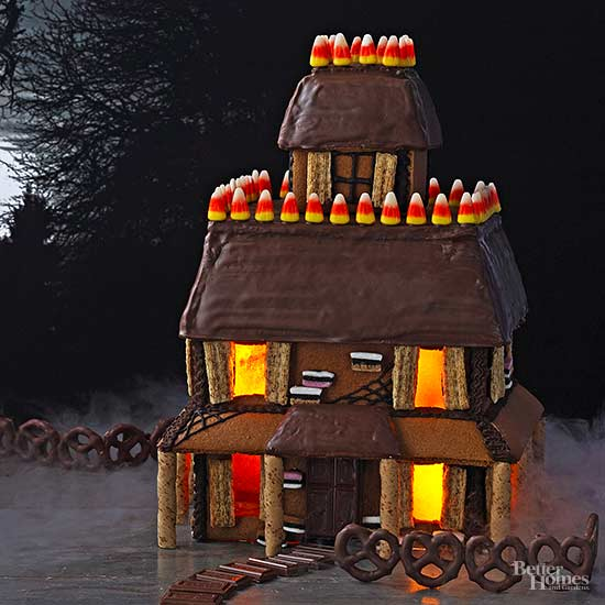 gingerbread halloween house