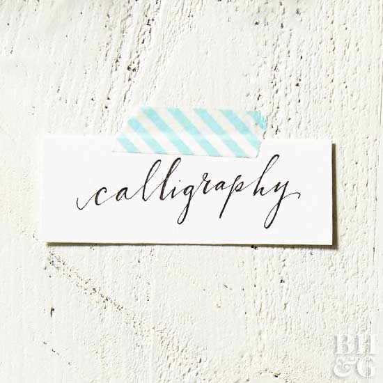 Gorgeous DIY Calligraphy