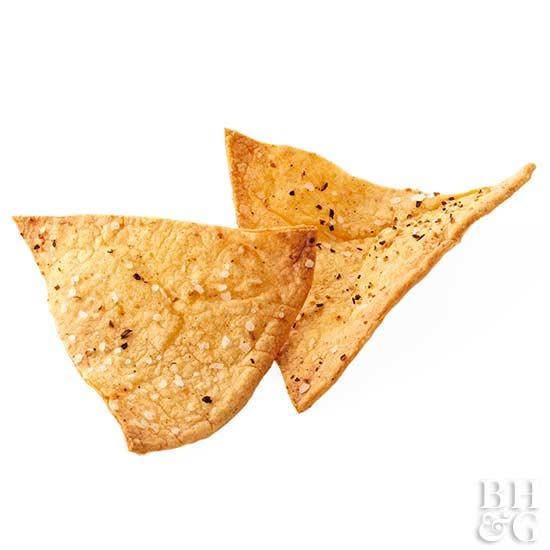 Zesty Baked Flour Tortilla Chips