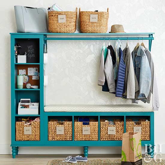 Bhg Storage Magazine: Turn Basic Storage Cubes Into A Cute DIY Entryway