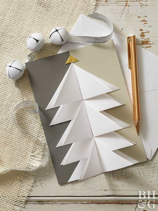 Make your own christmas cards origami tree card solutioingenieria Images