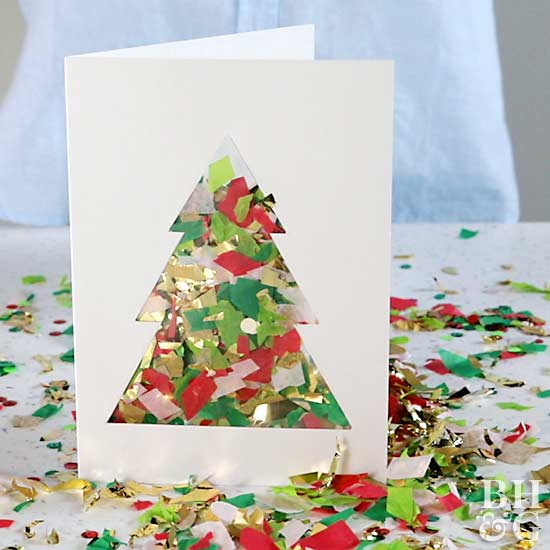 Christmas cards tags make a diy confetti christmas card solutioingenieria Images