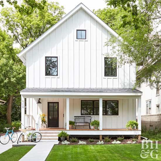 Exterior Small Home Design Ideas: Front Porch Ideas Using Flea Market Finds