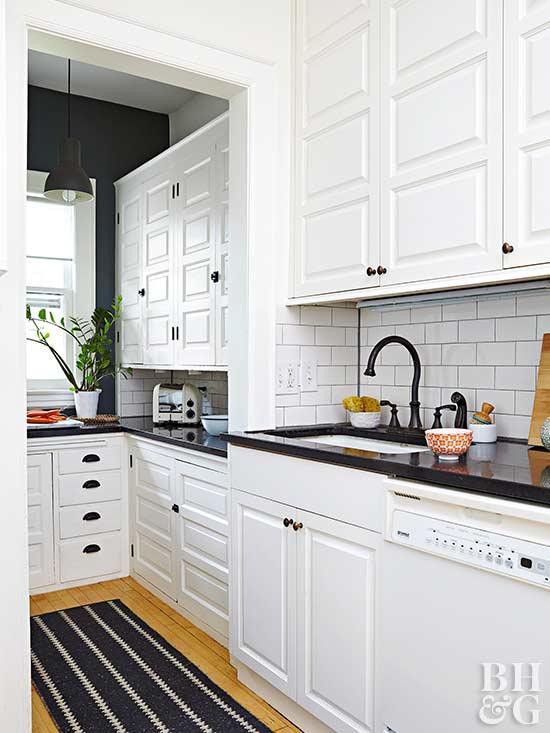 DIY Tile Backsplash White Kitchen