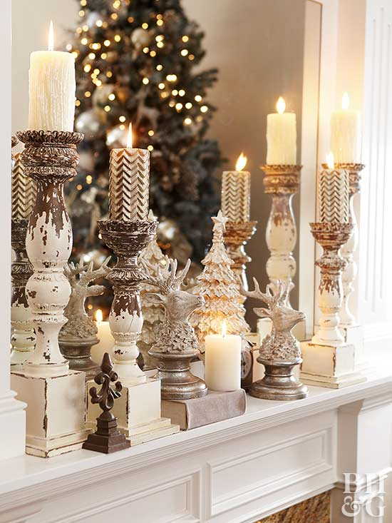 Decorating A Fireplace On A Budget Christmas