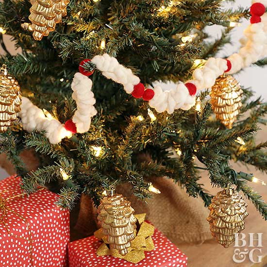 Christmas garlands felt popcorn garland solutioingenieria Image collections