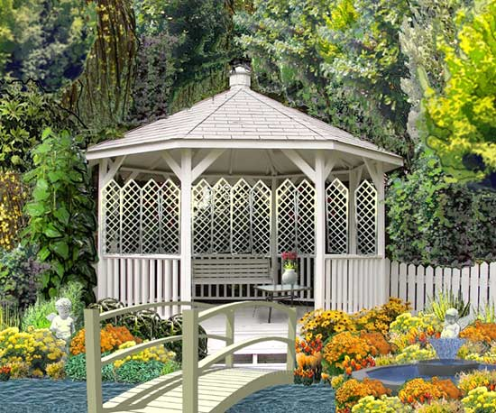 Landscaping A Garden Free interactive garden design tool no software needed plan a gazebo and bridge with landscaping workwithnaturefo