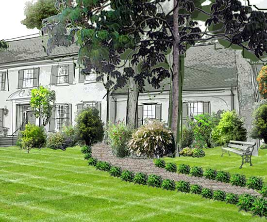 Free interactive garden design tool no software needed plan a front yard garden design with pathway malvernweather Image collections