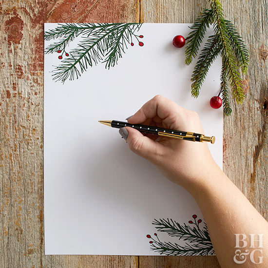 Traditional Christmas Letter  Christmas Letter Templates