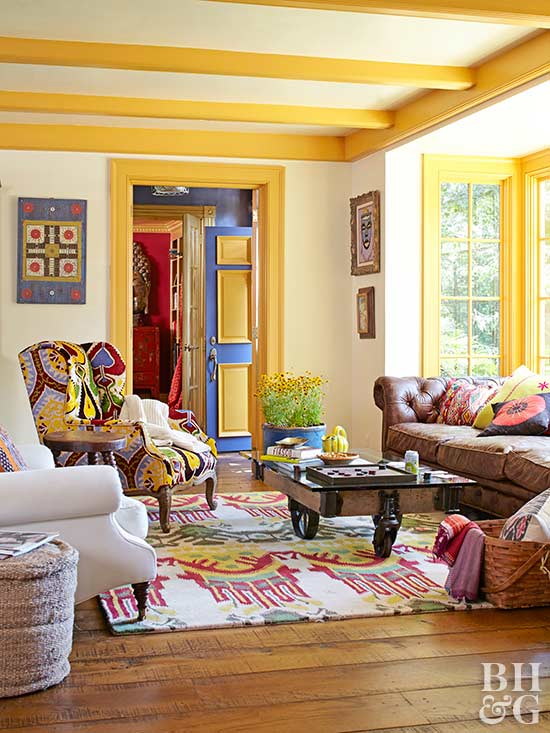 Yellow Living Room: Decorating Ideas For A Yellow Living Room