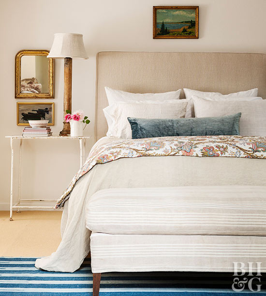 Superb White Light Beige Bedding
